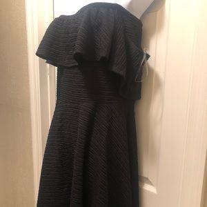 Curvy Sense Off the Shoulder Black Skater Dress 1X